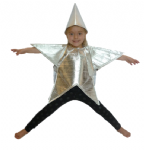 SILVER STAR CHILDRENS FANCY DRESS COSTUME